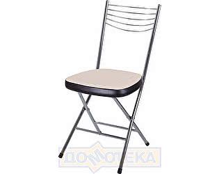 Купить стул Домотека Омега-1 скл. А-1/В-4 светло-бежеый с эффектом замши/венге, повышенной комфортности