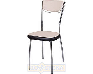 Купить стул Домотека Омега-4 F-1/В-4 спF-1/В-4 светло-бежевый с плетеной текстурой/венге