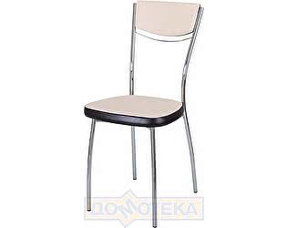 Купить стул Домотека Омега-4 А-1/В-4 спА-1/В-4 светло-бежеый с эффектом замши/венге, повышенной комфортност