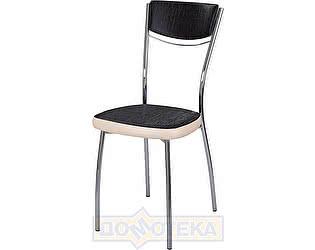 Купить стул Домотека Омега-4 А-4/В-1 спА-4/В-1 черный венге с эффектом замши/бежевый, повышенной комфортност