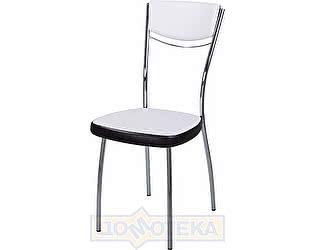 Купить стул Домотека Омега-4 В-0/В-4 спВ-0/В-4 искрящийся белый/черный венге, повышенной комфортности