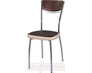 Купить стул Домотека Омега-4 Д-4/В-1 спД-4/В-1 коричневый (темная бронза) с узором/бежевый, повышенной комф