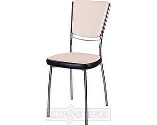 Купить стул Домотека Омега-5 F-1/В-4 спF-1/В-4 светло-бежевый с плетеной текстурой/венге