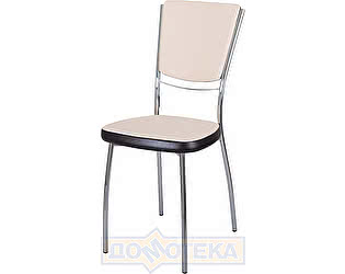 Купить стул Домотека Омега-5 А-1/В-4 спА-1/В-4 светло-бежеый с эффектом замши/венге, повышенной комфортност