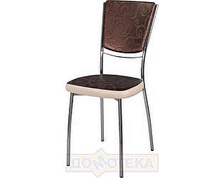 Купить стул Домотека Омега-5 Д-4/В-1 спД-4/В-1 коричневый (темная бронза) с узором/бежевый, повышенной комф
