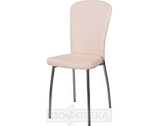 Купить стул Домотека Палермо F-1/F-1 светло-бежевый с плетеной текстурой, повышенной комфортности