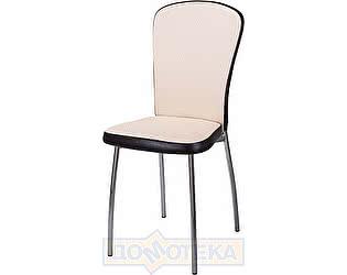 Купить стул Домотека Палермо F-1/В-4 светло-бежевый с плетеной текстурой/венге