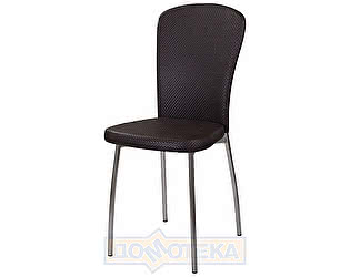 Купить стул Домотека Палермо F-4/F-4 венге с плетеной текстурой, повышенной комфортности