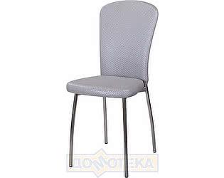 Купить стул Домотека Палермо F-7/F-7 серебристый с плетеной текстурой, повышенной комфортности