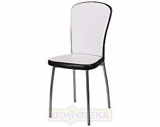 Купить стул Домотека Палермо В-0/В-4 искрящийся белый/черный венге, повышенной комфортности