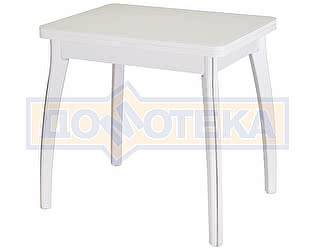 Купить стол Домотека Чинзано М-2 БЛ ст-БЛ 07 ВП БЛ белый