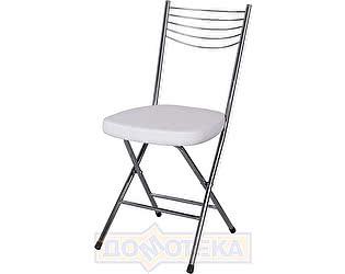 Купить стул Домотека Омега-1 скл. А0/А0, белый с эффектом замши/повышенной комфортности