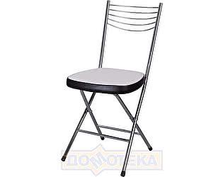 Купить стул Домотека Омега-1 скл. А0/В4, белый с эффектом замши/темный венге, повышенной комфортности