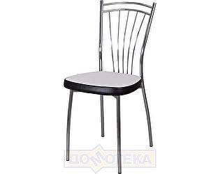 Купить стул Домотека Омега-2 А0/В4, белый с эффектом замши/темный венге, повышенной комфортности