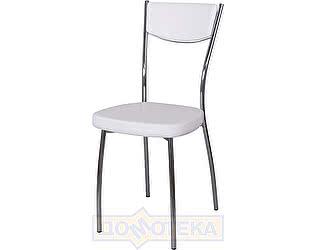 Купить стул Домотека Омега-4 А0/А0, белый с эффектом замши/повышенной комфортности