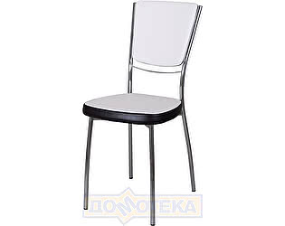 Купить стул Домотека Омега-5 А0/В4, белый с эффектом замши/темный венге, повышенной комфортности