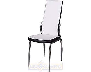 Купить стул Домотека Милано А0/В4, белый с эффектом замши/темный венге, повышенной комфортности