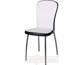 Купить стул Домотека Палермо А0/В4, белый с эффектом замши/темный венге, повышенной комфортности