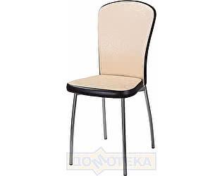 Купить стул Домотека Палермо D2/B4 Бежевый с узором/ Темный Венге, повышенной комфортности
