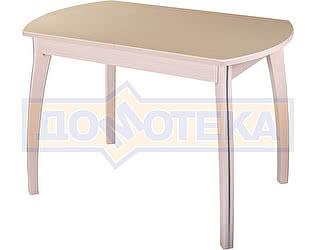 Купить стол Домотека Румба ПО-1 КМ 06 МД 07 ВП МД, молочный дуб, камень песочного цвета