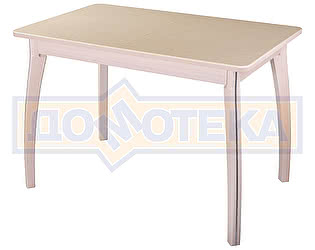 Купить стол Домотека Румба ПР-1 КМ 06 МД 07 ВП МД, молочный дуб, камень песочного цвета