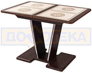 Купить стол Домотека Стол с плиткой - Каппа ПР ВП ОР 03 ОР/ОР пл 52 ,орех