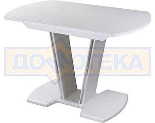 Купить стол Домотека Танго ПО-1 БЛ ст-БЛ 03-1 БЛ, белый, выбеленное закаленное стекло