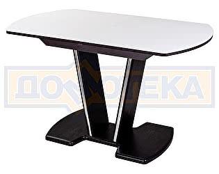 Купить стол Домотека Танго ПО-1 ВН ст-БЛ 03-1 ВН, венге, выбеленное закаленное стекло