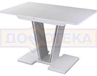 Купить стол Домотека Танго ПР-1 БЛ ст-БЛ 03-1 БЛ, белый, выбеленное закаленное стекло