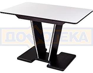 Купить стол Домотека Танго ПР-1 ВН ст-БЛ 03-1 ВН, венге, выбеленное закаленное стекло