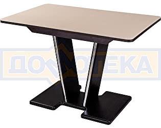 Купить стол Домотека Танго ПР-1 ВН ст-КР 03-1 ВН, венге, стекло кремового цвета