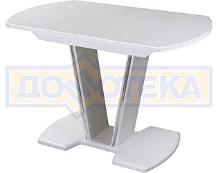 Купить стол Домотека Румба ПО-1 КМ 04 БЛ 03-1 БЛ, белый, белый камень