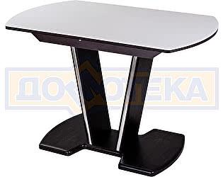Купить стол Домотека Румба ПО-1 КМ 04 ВН 03-1 ВН, венге, белый камень