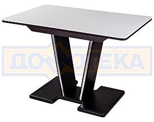 Купить стол Домотека Румба ПР-1 КМ 04 ВН 03-1 ВН, венге, белый камень