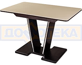 Купить стол Домотека Румба ПР-1 КМ 06 ВН 03-1 ВН, венге, камень песочного цвета