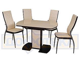 Купить обеденную группу Домотека Стол Танго + стулья Милано Д-2/В4 (4шт.)