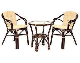 Купить комплект садовой мебели ЭкоДизайн Комплект кофейный Patio 02/13 (стол+2 кресла)