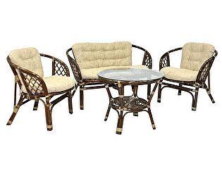 Купить комплект садовой мебели ЭкоДизайн Комплект кофейный Багама 03/10 Б