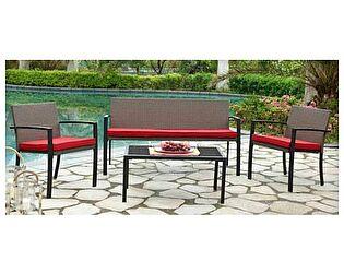 Купить комплект садовой мебели ЭкоДизайн 210156 с 3-х местным диваном