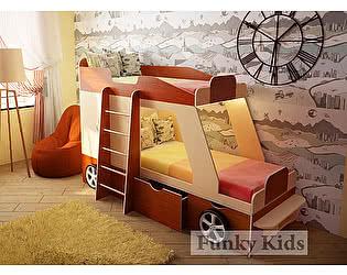 Купить кровать Фанки Кидз Джип двухъярусная