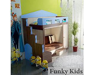 Купить кровать Фанки Кидз Хоум-3 двухъярусная
