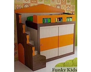 Купить кровать Фанки Кидз чердак Хоум-5 (со шкафом-купе)