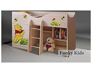 Купить кровать Фанки Кидз чердак Винни Пух, арт. 40014
