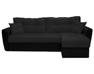 Купить диван FotoDivan угловой Амстердам рогожка черная 150