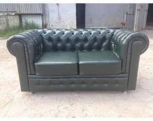 Купить диван FotoDivan Честер 2- х местный,  зеленый