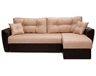 Купить диван FotoDivan угловой Амстердам рогожка бежевая 150