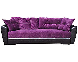 Купить диван FotoDivan еврокнижка Амстердам 150 велюр фиолетовый