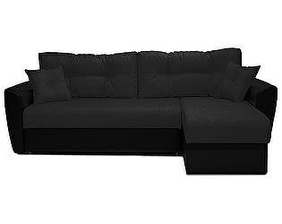 Купить диван FotoDivan угловой Амстердам рогожка черная 160