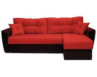 Купить диван FotoDivan угловой Амстердам рогожка красная 150