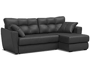 Купить диван FotoDivan угловой Амстердам 150 экокожа черная